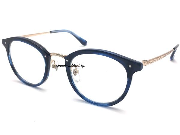 鯖江企画 BACK RIM BOSTON SUNGLASS(バックリムボストンサングラス)NAVY × CLEAR ネイビー紺色細い伊達眼鏡だてめがねダテメガネだてハンドメイド男女兼用メンズレディースアイウェアuvカットクラシカル高級感ラウンドボストン型ベーシック
