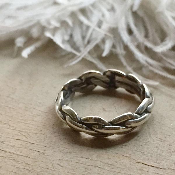 Braided Wire Triangle Shape Silver Ring(ブレイデッドワイヤー トライアングルシェイプ シルバーリング) ナバホ族navajoインディアンジュエリーネイティブアメリカンアンティークアクセサリーメンズ指輪フレッド・ハービースタイル
