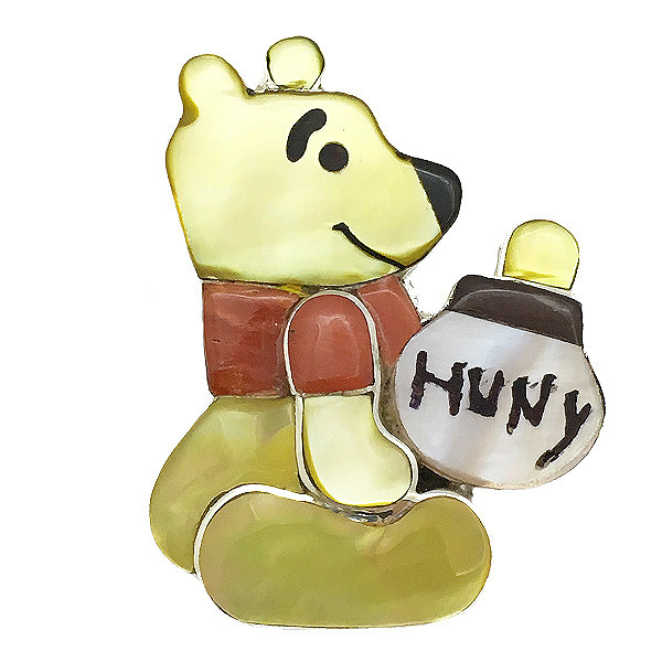 Paula Leekity Brooch Pendant top Winnie the Pooh(ポーラ リーキティ ブローチ・ペンダントトップ くまのプーさん) indian jewelryネックレス首飾りニードルピン全身ぷーさんwaltdisneyディズニーキャラクターハニーハントシルバー銀