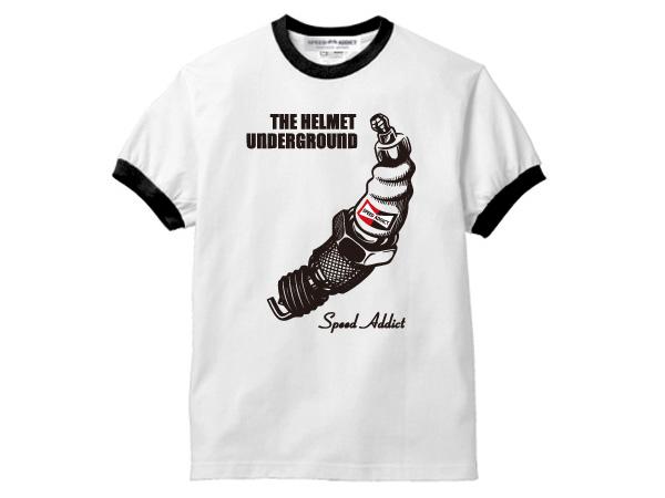 THE HELMET UNDERGROUND Ringer T-shirt (helmet underground ringer T-shirt)  trim trim teethe velvet underground&nicochampion spark plugngkdenso Denso