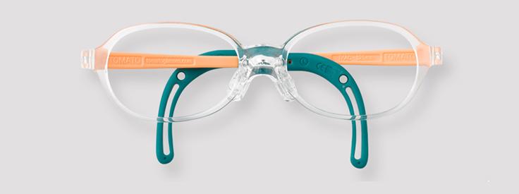 【度付きトマトグラッシーズ TKAC12】キッズ 子供 子供用 チャイルド メガネ 眼鏡 度付 度付き 度入 度入り レンズ フレーム 近視 遠視 乱視 弱視 眼科 処方箋 金属 セル