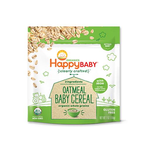 6か月からのオーガニックベビーフード Clearly Crafted オートミール 198g Happy Baby(ハッピーベイビー)赤ちゃん/シリアル/栄養/新米ママ/離乳食