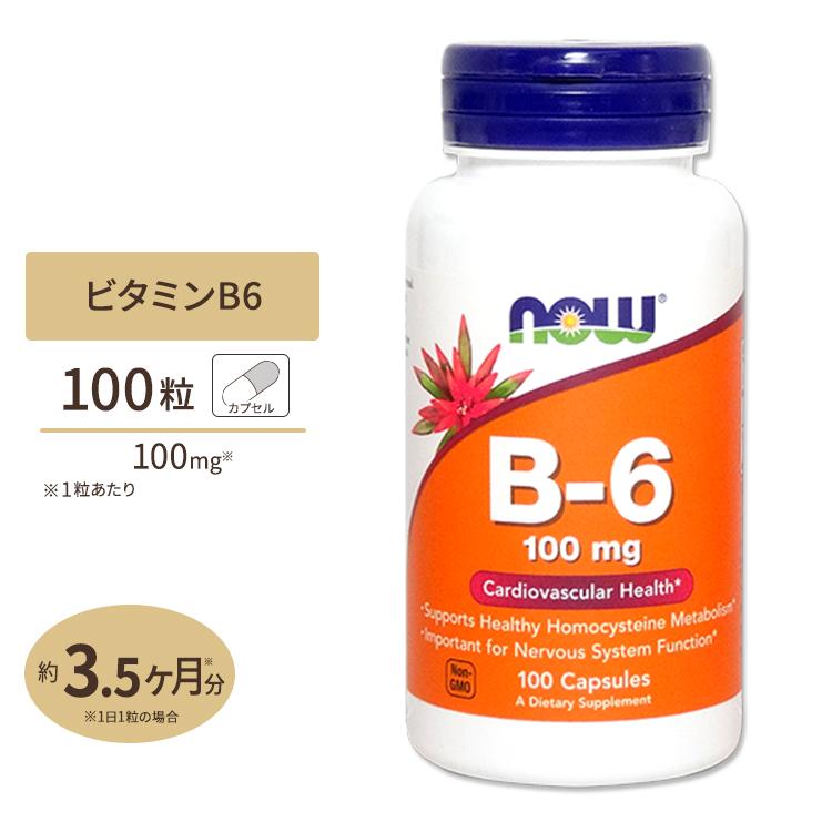 ビタミンB6 100mg 100粒 ディスカウント NOW Foods ハイクオリティ ナウフーズ