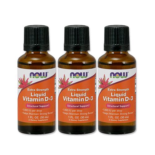 ビタミンD3 1 超激得SALE 000IU リキッド 30ml NOW ナウフーズ Foods 今だけ限定15%OFFクーポン発行中 3個セット