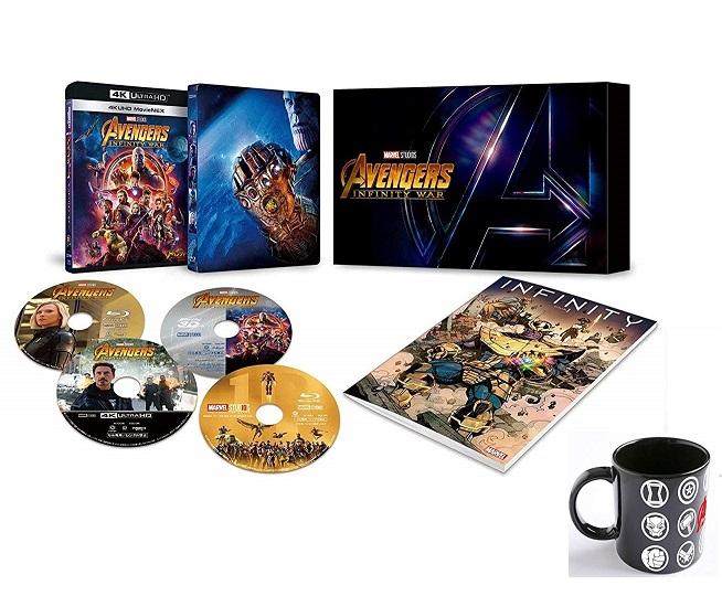 【新品】【即納】【限定2】アベンジャーズ/インフィニティ・ウォー 4K UHD MovieNEXプレミアムBOX(数量限定) オリジナルマグカップ付 [4K ULTRA HD + 3D + Blu-ray + デジタルコピー+MovieNEXワールド]