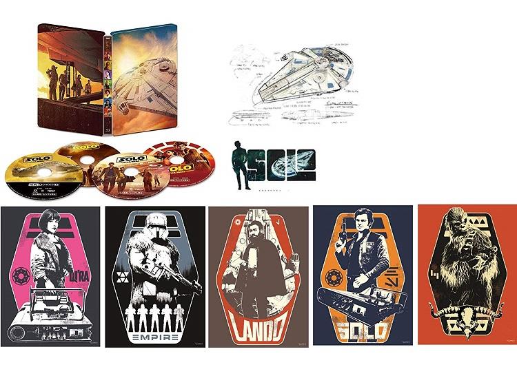 【新品】注文後2,3日発送 ハン・ソロ/スター・ウォーズ・ストーリー 4K UHD MovieNEX スチールブック(数量限定) A4ポスター5枚組、ステッカーシート1枚、ポストカード1枚付き [4K ULTRA HD+3D+Blu-ray+デジタルコピー+MovieNEXワールド] Blu-ray