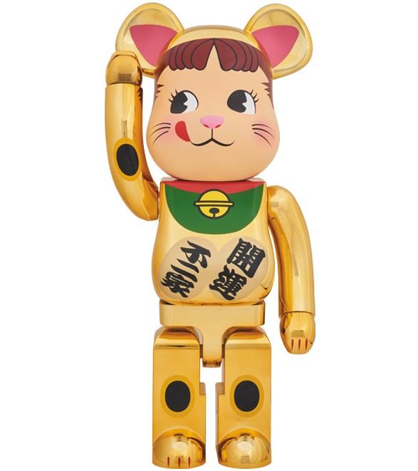 【新品】1週間以内発送 BE@RBRICK 招き猫 ペコちゃん 金メッキ 1000%