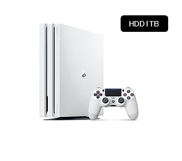 【新品】【即納】PlayStation 4 Pro グレイシャー・ホワイト 1TB CUH-7100BB02