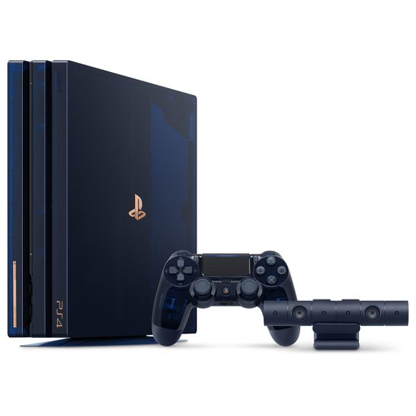 【新品】【即納】PS4 Pro 500 Million Limited Edition CUH-7100BA50 5万台限定 濃紺 スケルトン PS Camera 縦置きスタンド カメラ PlayStation 4