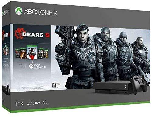 【新品】5月上旬入荷次第発送 Xbox One X (Gears 5、Gears of War 1,2,3,4 ダウンロード版 同梱) 【定価43,978円】