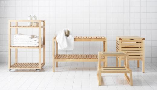 spw rakuten ichiba store ikea molger bench birch dark brown rakuten global market. Black Bedroom Furniture Sets. Home Design Ideas
