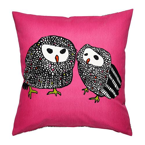 IKEA ■ Cushion cover OWL OWL GULORT pink