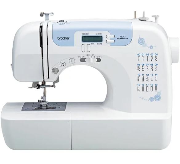 【新品】6月18日以降入荷 ブラザー 軽量・パワフル・見やすい液晶表示のコンピューターミシン[IM5] PS203 brother ブルー 青 手芸 裁縫