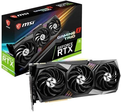 新品 正規品 1週間以内発送 MSI GeForce RTX スピード対応 全国送料無料 3090 24G TRIO GAMING X VD7347 グラフィックスボード 激安特価品