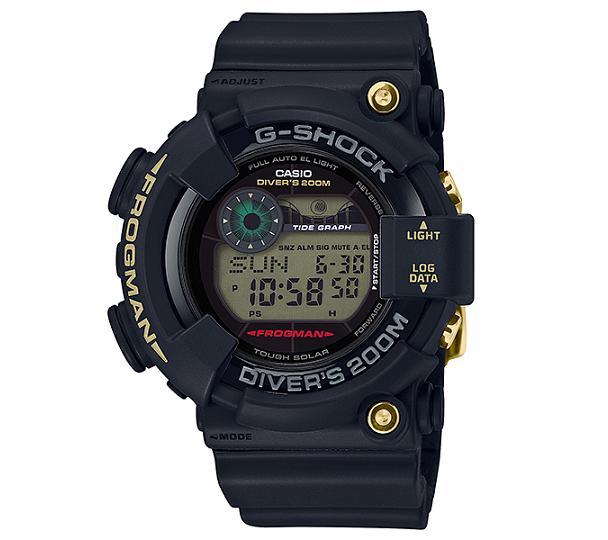 【新品】【即納】CASIO G-SHOCK FROGMAN タフソーラー 35周年記念モデル ブラック デジタル 腕時計 メンズ GF-8235D-1BJR【2018 新作】