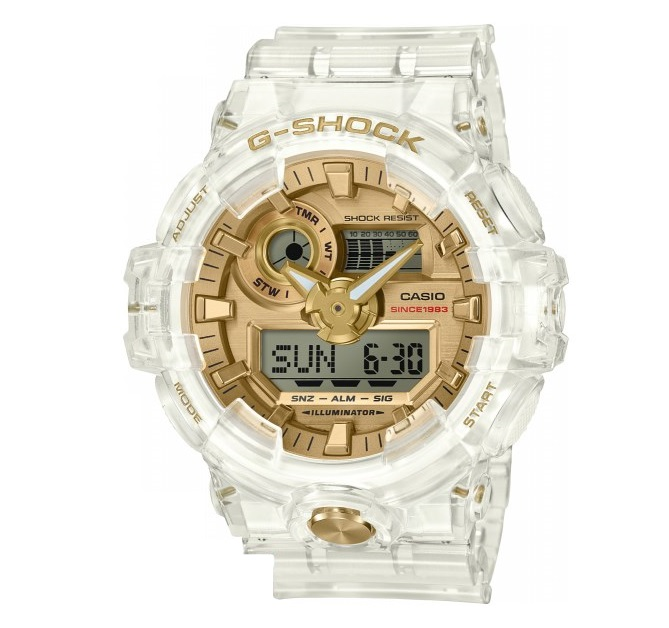 【新品】【即納】カシオ Gショック CASIO G-SHOCK 35周年記念モデル グレイシアゴールド 腕時計 GA-735E-7AJR メンズ
