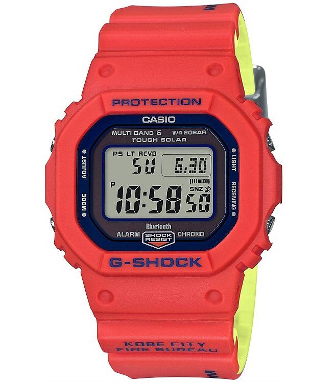 【新品】【即納】G-SHOCK デジタル 5600 Gショック CASIO 神戸市消防局 救助隊50周年 腕時計 メンズ GW-B5600FB-4JR【2018 新作】 [カシオ] 限定 モデル コラボ