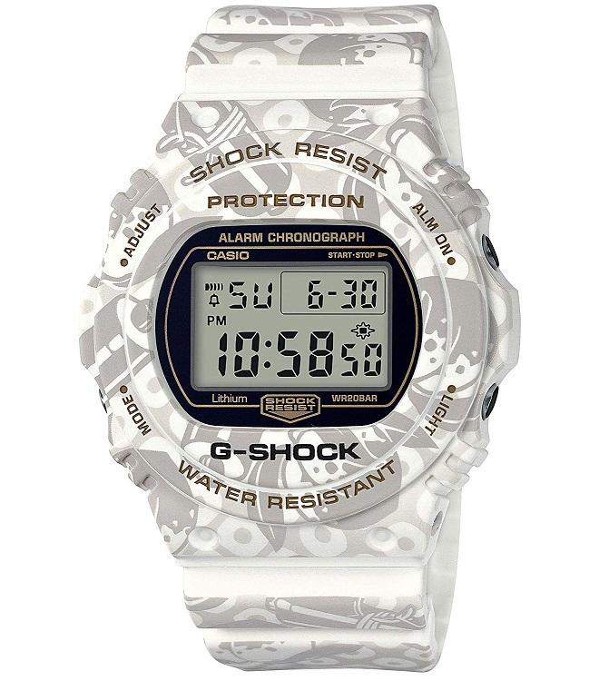 【新品】【即納】[カシオ]CASIO 腕時計 G-SHOCK ジーショック 七福神 SHICHI-FUKU-JIN 寿老人モデル DW-5700SLG-7JR メンズ