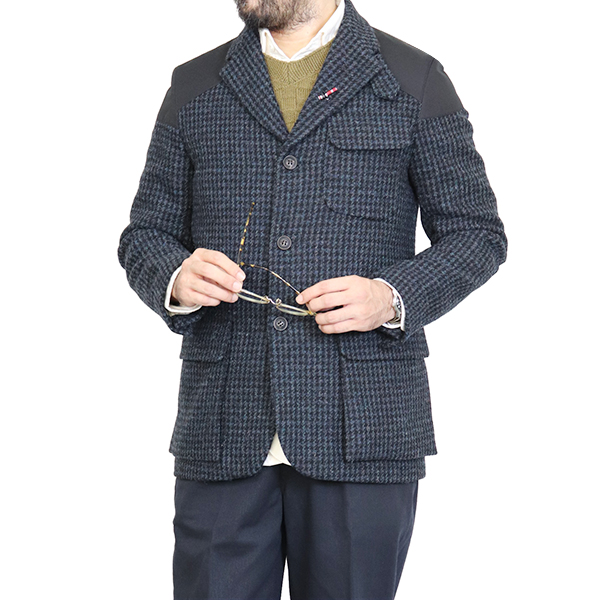 NIGEL CABOURN ナイジェル・ケーボン MALLORY JACKET HARRIS TWEED × VENTILE BLUE CHECK AUTHENTIC LINE