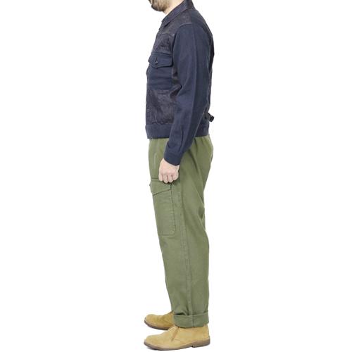 ≪SALE≫ NIGEL CABOURN BATTLE DRESS JACKET MIX INDIGO MAIN LINE