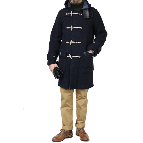 ≪SALE≫ NIGEL CABOURN MONTGOMERY COAT REVERSIBLE DARK NAVY MAIN LINE