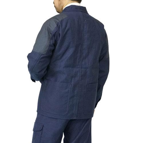 ≪SALE≫ NIGEL CABOURN 6 POCKET WORK JACKET MOLESKIN DARK NAVY MAIN LINE