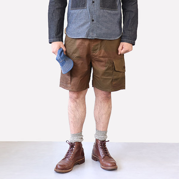 NIGEL CABOURN ナイジェル・ケーボン S.A.S COMBAT SHORT S.A.S. CAMOUFLAGE MAIN LINE