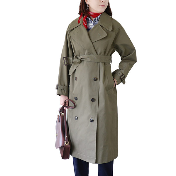 NIGEL CABOURN WOMAN ナイジェル・ケーボン ウーマン 1948 BRITISH ARMY COAT HIGH DENSITY GABARDINE DARK GREEN MAIN LINE