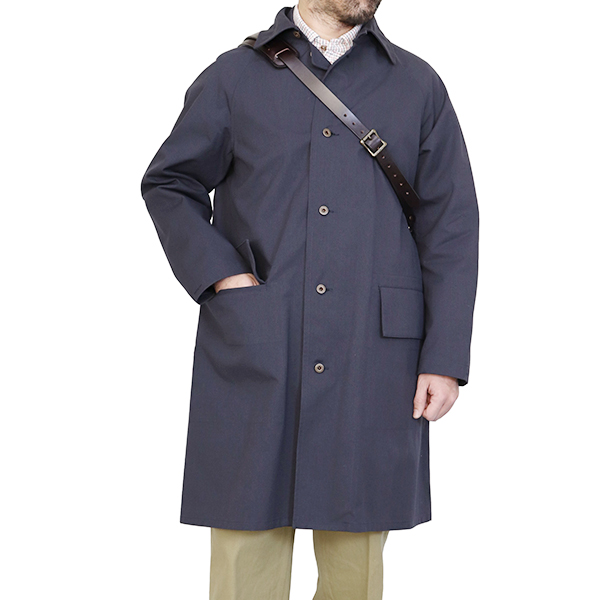NIGEL CABOURN ナイジェル・ケーボン PACKABLE COAT HALFTEX BLACK MAIN LINE