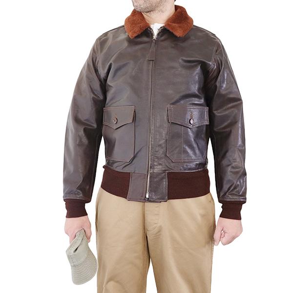 EASTMAN LEATHER 買収 CLOTHING イーストマン レザー クロージング TYPE G-1 MODEL GOATSKIN JACKET FLIGHT U.K. 奉呈 BROWN DARK IN MADE