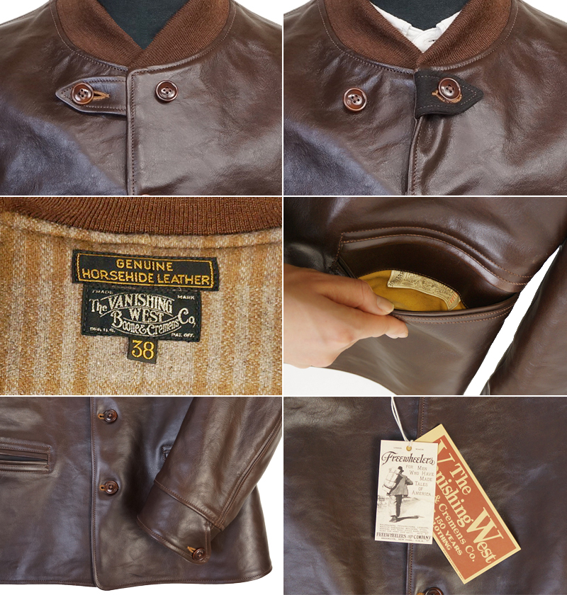 FREEWHEELERS furihoirazu DUST BOWL 1920s WORKMEN'S GARMENT THE VANISHING WEST HORSEHIDE