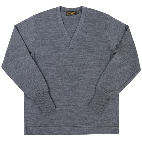 FREEWHEELERS フリーホイーラーズ V NECK SWEATER 1920 - 1930s STYLE SWEATER WORSTED YARN HIGH GAUGE KNIT GRAY HEATHER