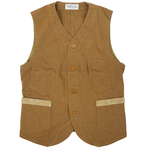FREEWHEELERS フリーホイーラーズ CONDUCTOR STYLE VEST LATE CONDUCTOR 1800s STYLE WORK BEIGE CLOTHING COTTON DUCK DRY FINISH RED BEIGE, 英田町:aae1bc26 --- economiadigital.org.br
