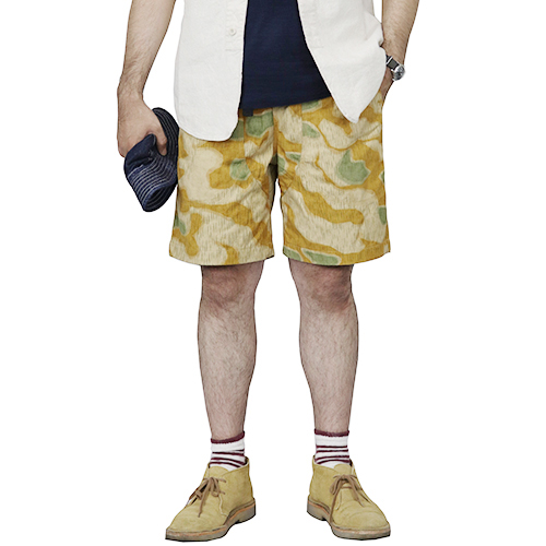 FREEWHEELERS フリーホイーラーズ PACIFIC CREST TRAIL OLD STYLE OUTDOOR SPORT SHORTS GREAT LAKES GMT. MFG. CO. RAIN DROP CAMO
