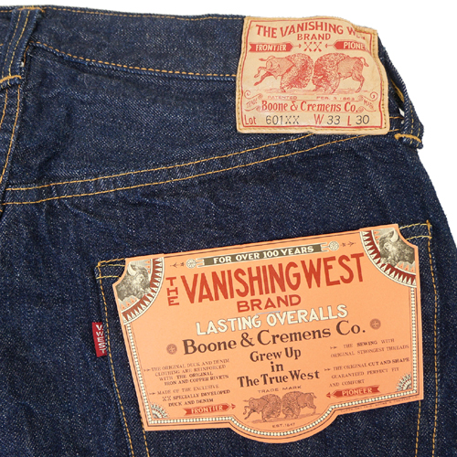 FREEWHEELERS 5 POCKET JEANS 1951 MODEL THE VANISHING WEST Lot 601 XX Length 30