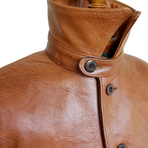 FREEWHEELERS BRAKEMAN COAT 1920s RAILROAD WORK COAT NEAL CASSADY RAILROAD BRAND HORSEHIDE CANYON BROWN