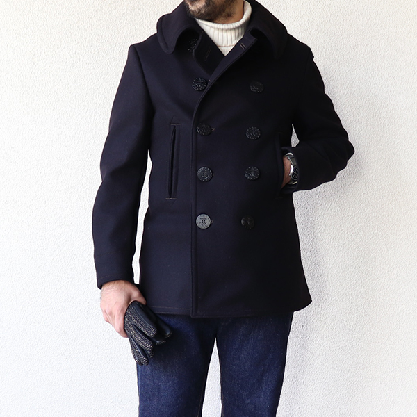 FREEWHEELERS フリーホイーラーズ U.S.NAVY OVERCOAT 1930s MODEL NAVAL CLOTHING FACTORY ORIGINAL HEAVY WEIGHT WOOL MELTON NAVY PEA COAT