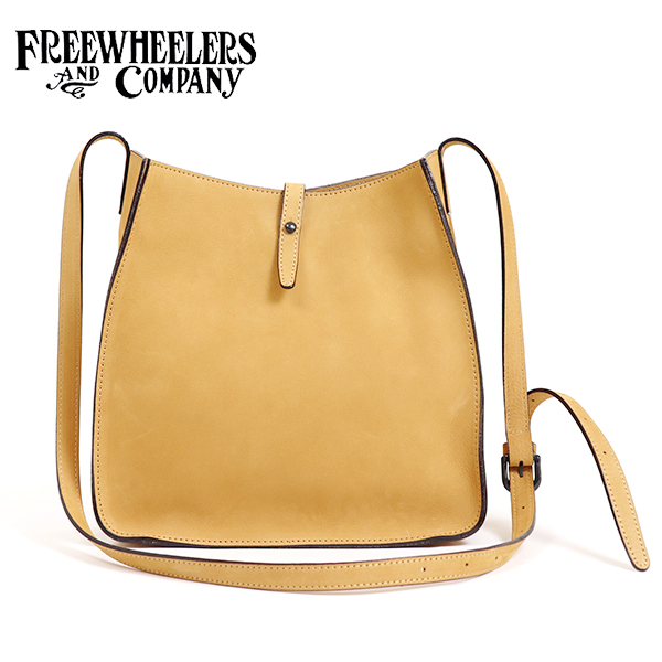 FREEWHEELERS フリーホイーラーズ TRAILBLAZER BAG 1920 - 1930s WOODSMAN SHOULDER BAG BULL HIDE YELLOW OCHRE NUBUCK