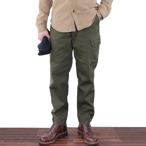 FREEWHEELERS フリーホイーラーズ AVIATORS' TROUSERS 1930s CIVILIAN MILITARY STYLE CLOTHING COTTON CHINO DRILL OLIVE