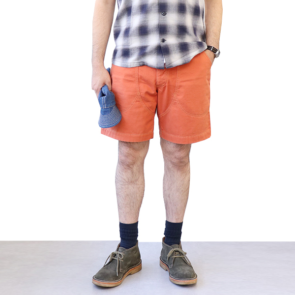 FREEWHEELERS フリーホイーラーズ PACIFIC CREST TRAIL OLD STYLE OUTDOOR SPORT SHORTS GREAT LAKES GMT.MFG.CO. MILITARY TWILL ORANGE