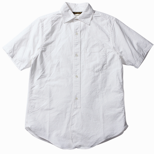 FREEWHEELERS フリーホイーラーズ MAILER SHORT SLEEVE SHIRT LATE 1800s WIDE SPREAD COLLAR SHIRT WHITE HEAVY OXFORD