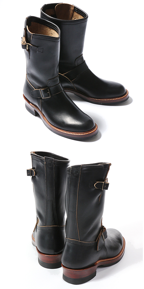 JOHN LOFGREN  ENGINEER BOOTS HORWEEN LEATHER CXL BLACK