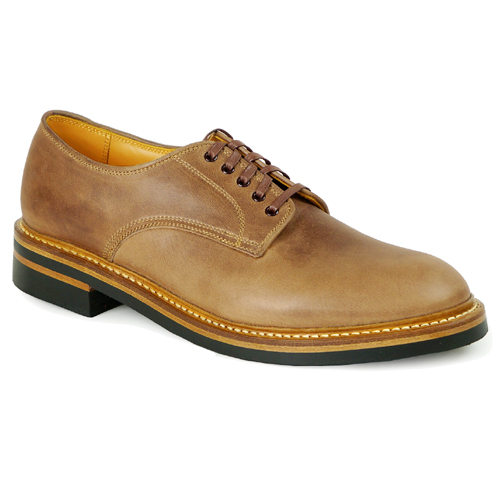 JOHN LOFGREN jonrofuguren CLASSIC DERBY SHOES HORWEEN LEATHER CXL NATURAL
