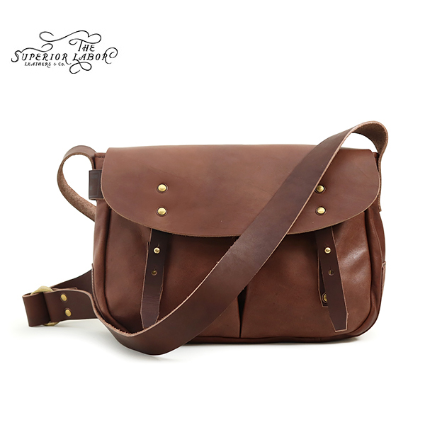 THE SUPERIOR LABOR シュペリオール レイバー HORSE LEATHER HUNTING BAG BROWN MADE IN JAPAN