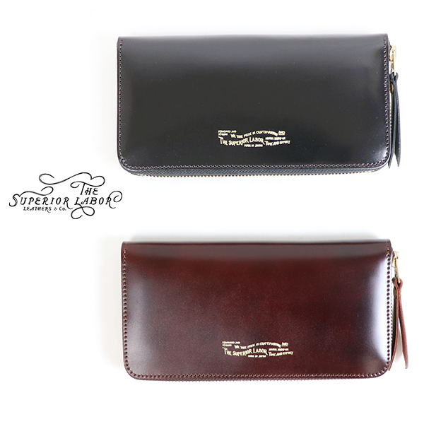 THE SUPERIOR LABOR CORDOVAN ZIP LONG WALLET 2 COLORS MADE IN JAPAN 長財布
