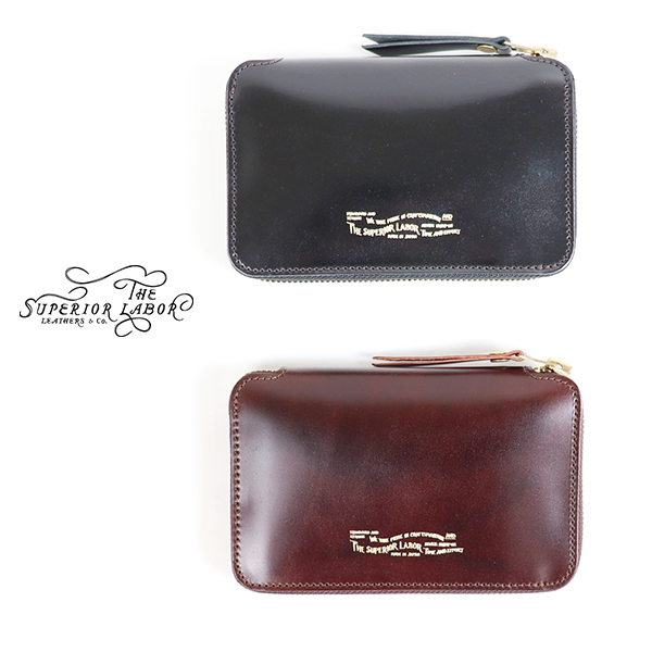 THE SUPERIOR LABOR CORDOVAN ZIP MIDDLE WALLET 2 COLORS MADE IN JAPAN 長財布