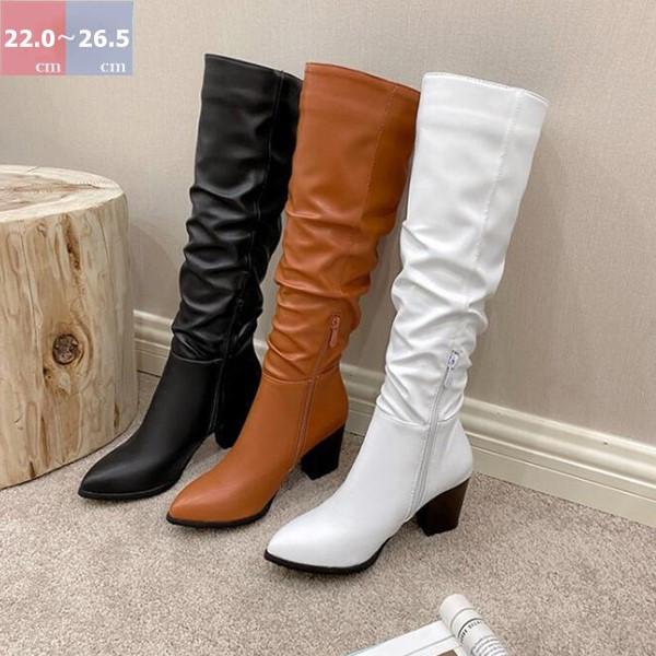 ロング ブーツ レディース 店舗 ロングブーツ ルーズブーツ ミドルヒール 太ヒール 痛くない 歩きやすい 大きいサイズ 送料無料 レディースシューズ レディースブーツ ヒールブーツ シューズ ポインテッドトゥ 女性用 ルーズ 女性 ハイヒール 無地 上品 ヒール靴 ミドルブーツ 毎日激安特売で 営業中です 合皮ブーツ 靴