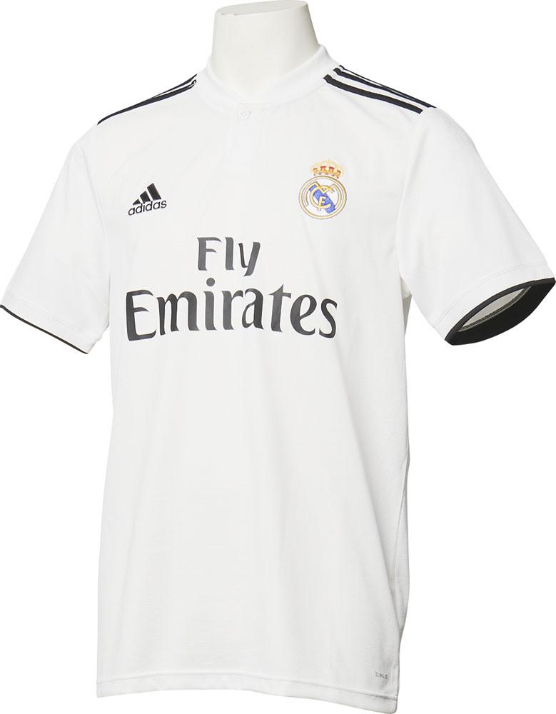 adidas(アディダス)サッカーゲームシャツ・パンツレアル・マドリード ホーム レプリカユニフォーム 男女兼用ENO34コアWHT/BLK