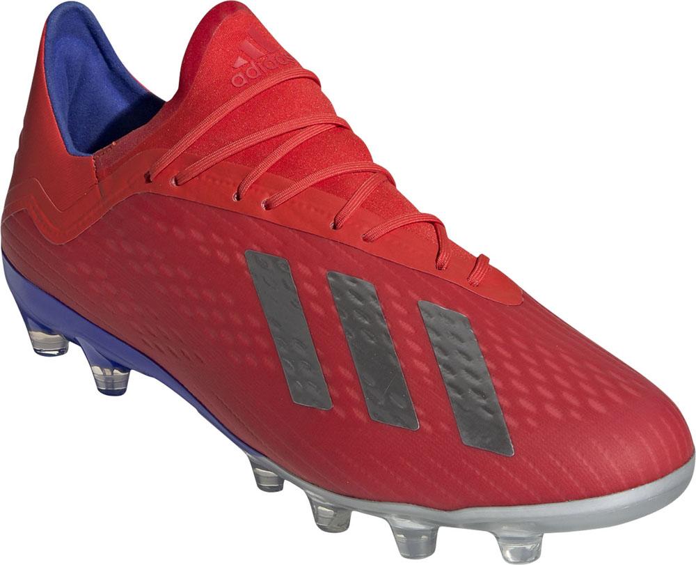 adidas(アディダス)サッカースパイクエックス 18.2-ジャパン HG/AG アクティブレッドS19×シルバーメット×ボールドブルーF97358アクティブREDS19