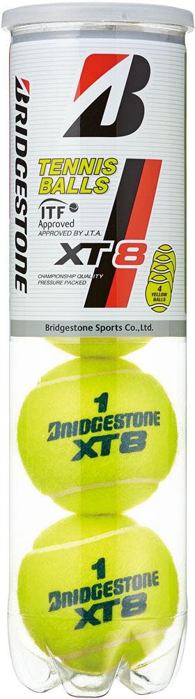 【ラッキーシール対象】BridgeStone(ブリヂストン)テニスボール【XT8】エックスティエイト(4個入り×15筒、5ダースセット)【BBA4XT】BBA4XT